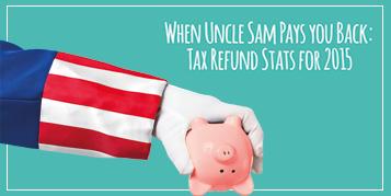 Tax refund statistics 2015 - Infographic