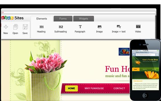 Free Website Builder For Google Apps Zohosites