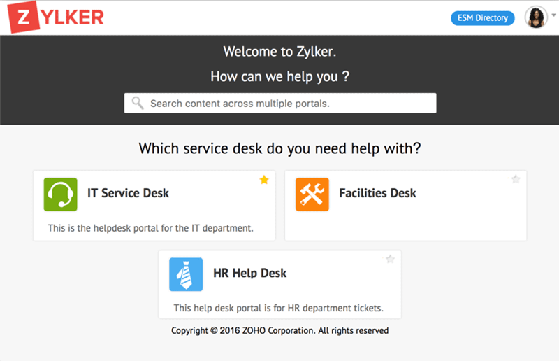 Online Enterprise Service Desk
