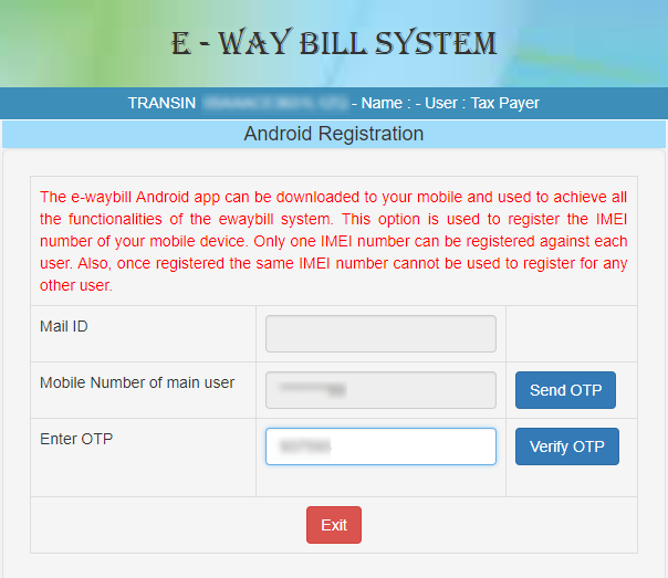 REGISTERING FOR ANDROID SYSTEM