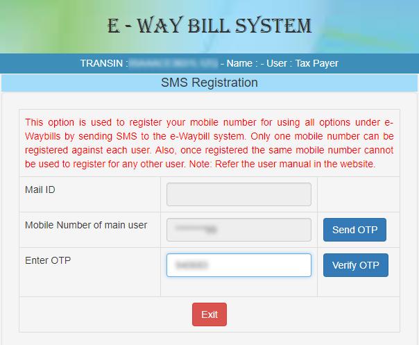 REGISTERING FOR SMS SYSTEM