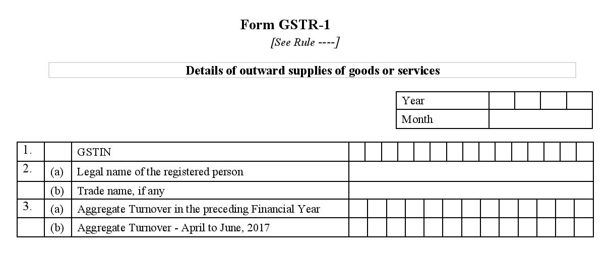 Basic details required to file GSTR1