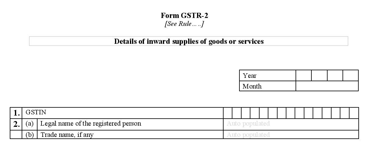 Basic details required for filing GSTR 2