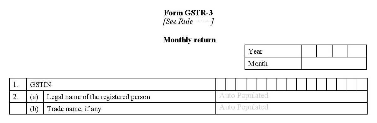 Basic details required for filing GSTR 3