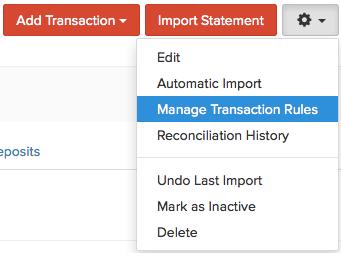 Manage Transaction Rules
