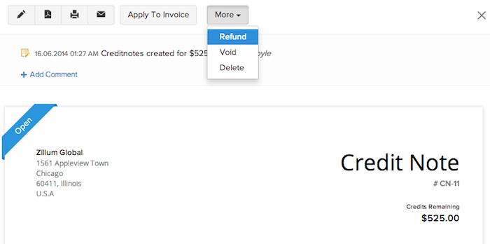 Credit Note User Guide – Sample of Credit Memo