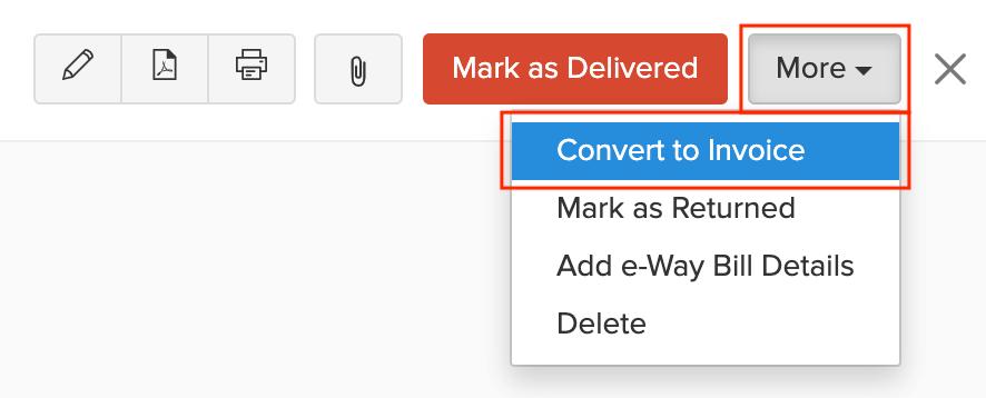 Convet to Invoice