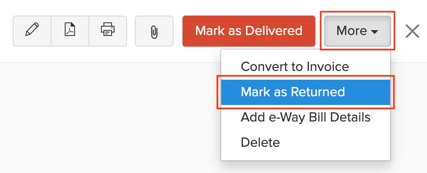 Mark as Returned