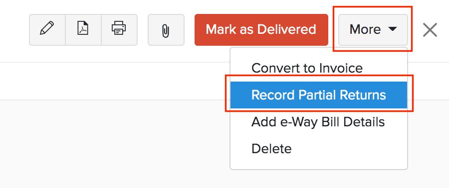 Record Partial Return