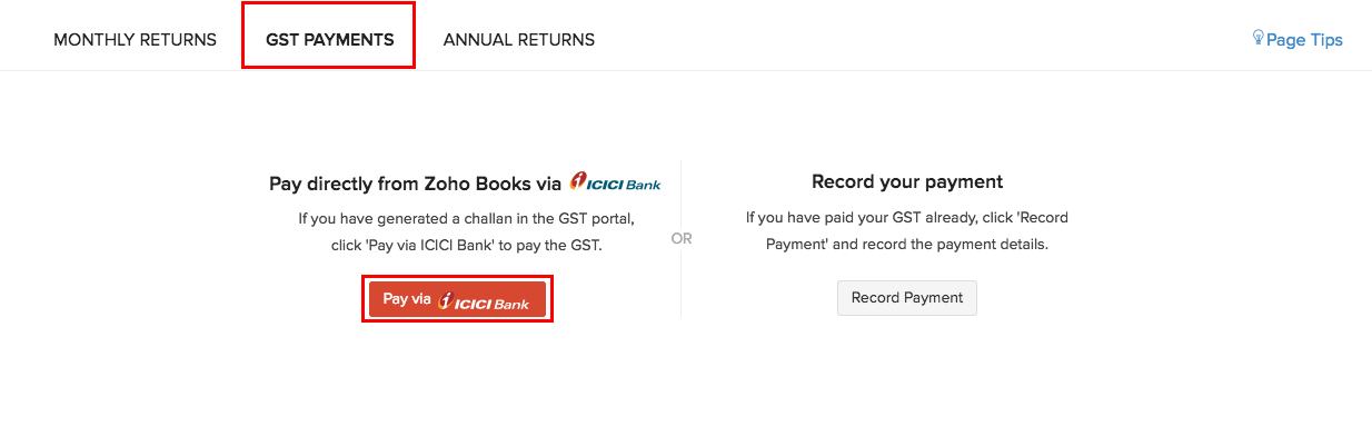 Pay via ICICI