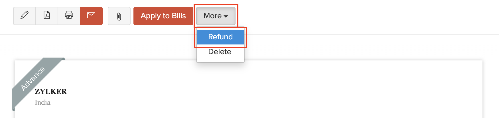 Refund Vendor Payment