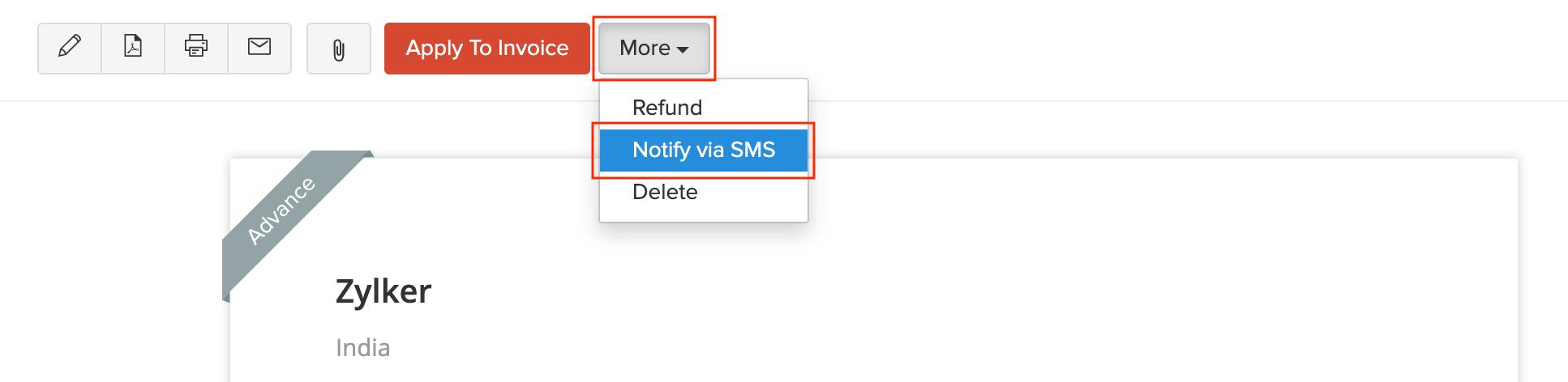 Notify via SMS