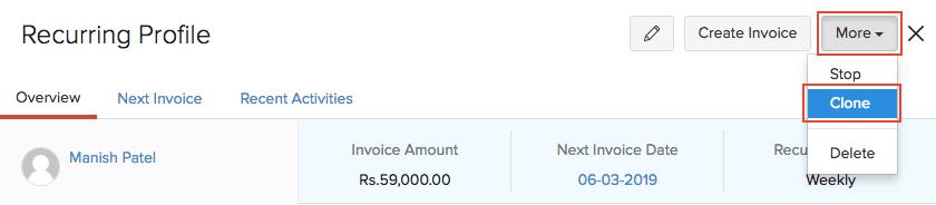 Clone Invoice
