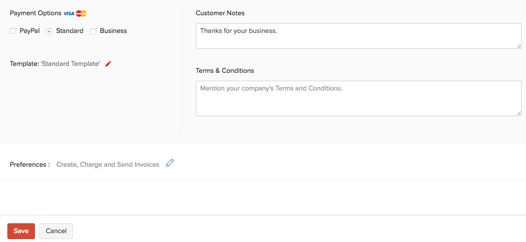 Create And Send Recurring Invoice Help Zoho Books - What is recurring invoice for service business