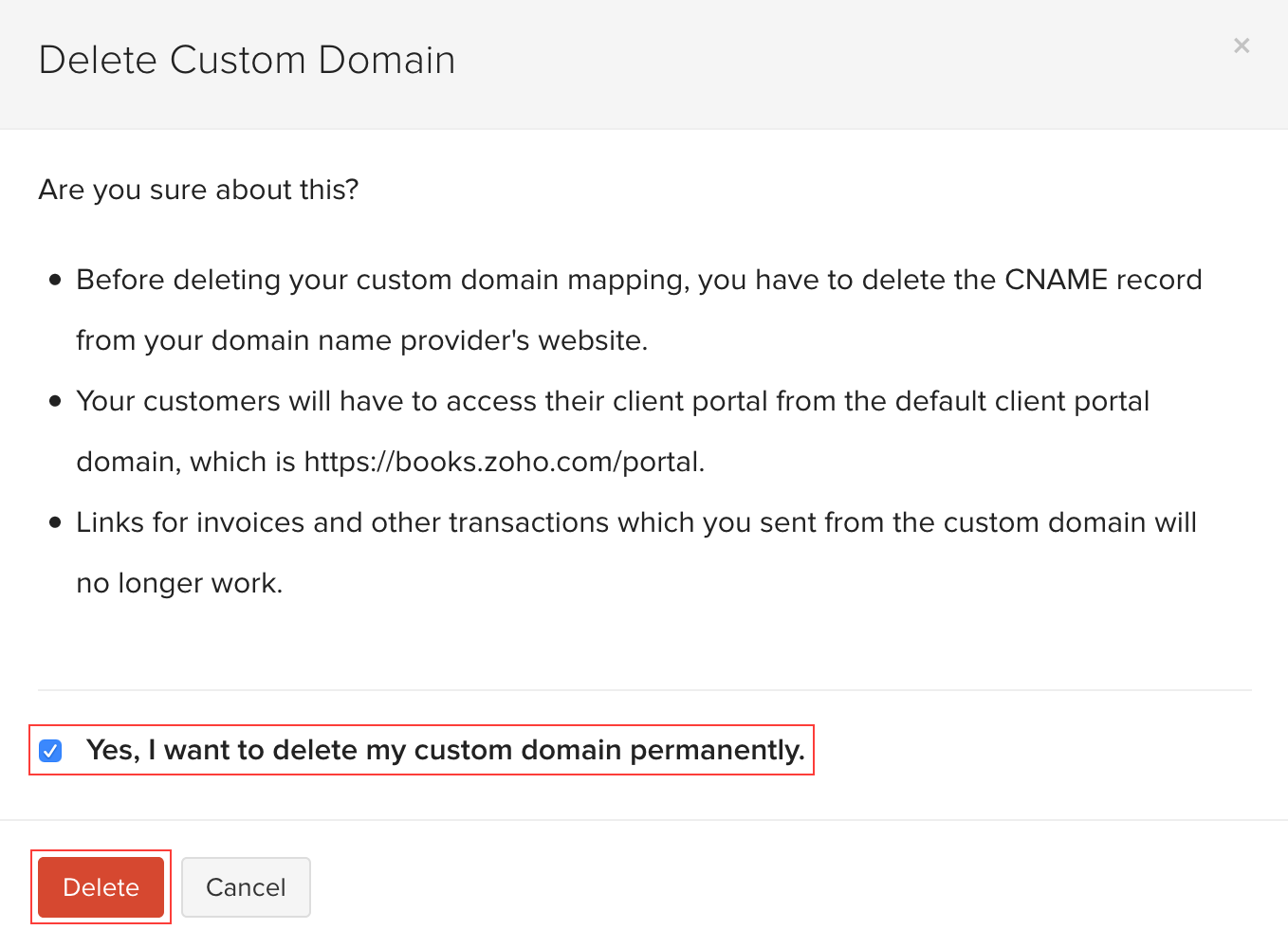 Verify Custom Domain