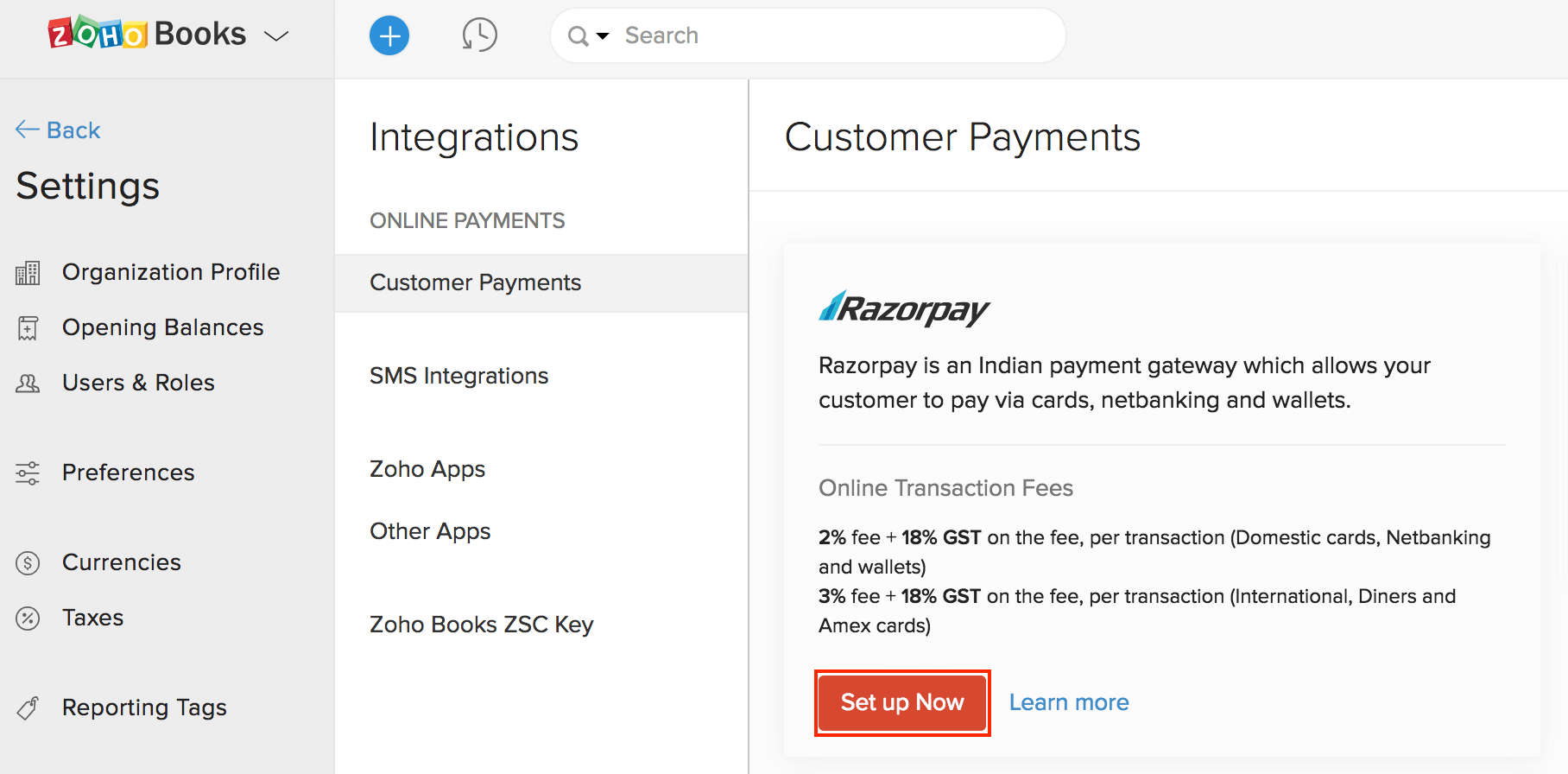 razorpay-set-up-page