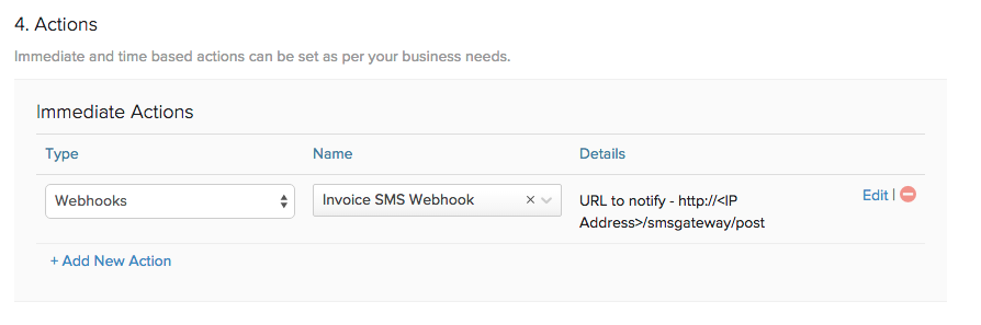 SMS Webhook WhenTrigger
