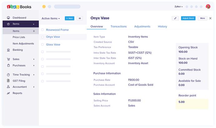 Feature invoice - Zoho Invoice