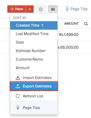 Export Estimates Image