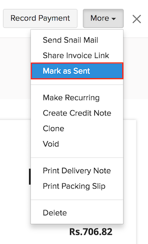 Mark an invoice as sent