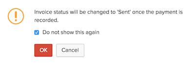 Invoice status change