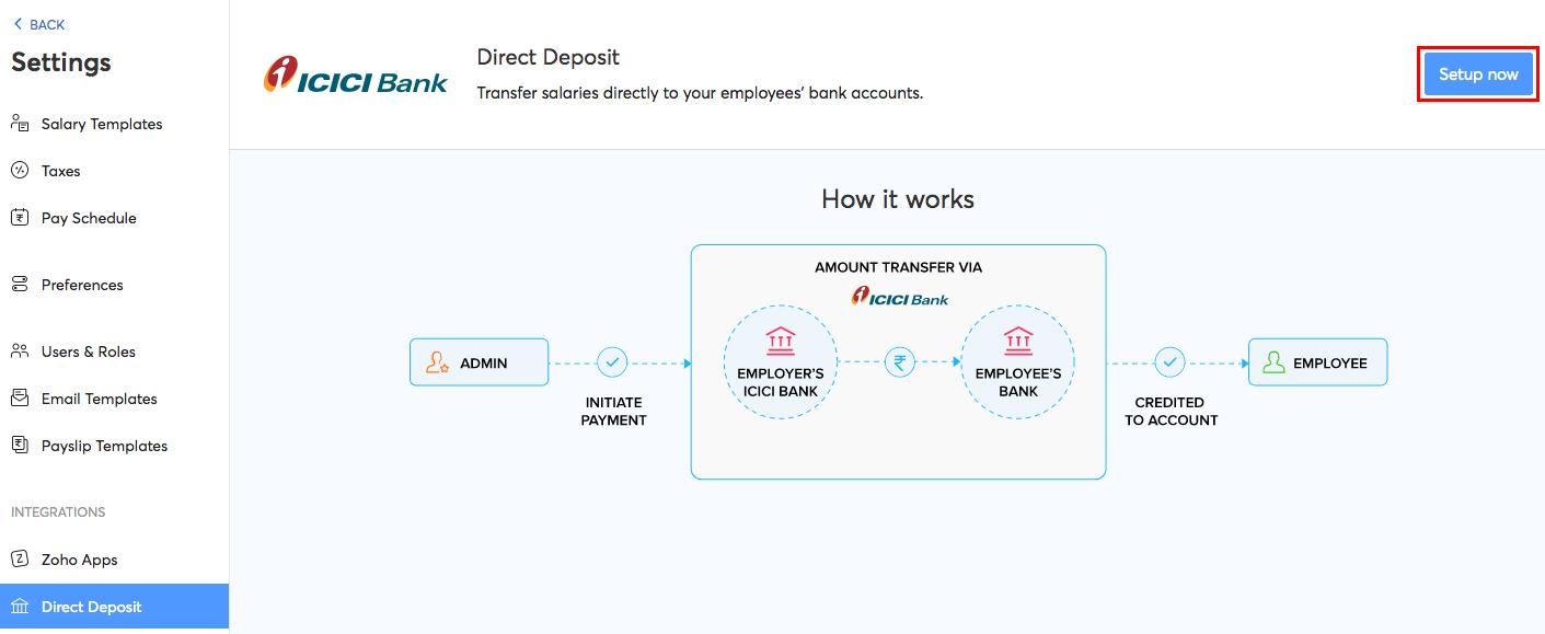 Direct Deposit Setup
