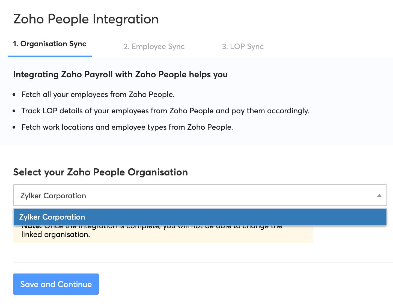 Organisation Sync