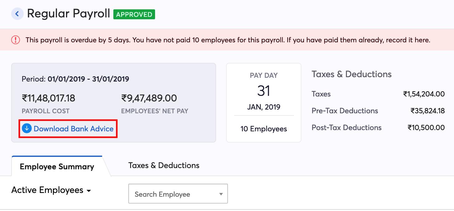Create Pay Run