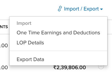 Import Details