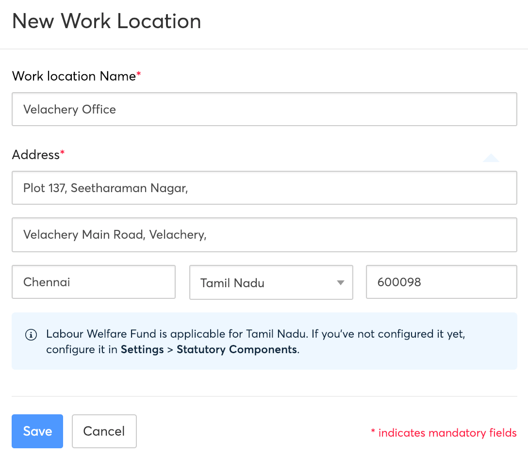 Work Locations
