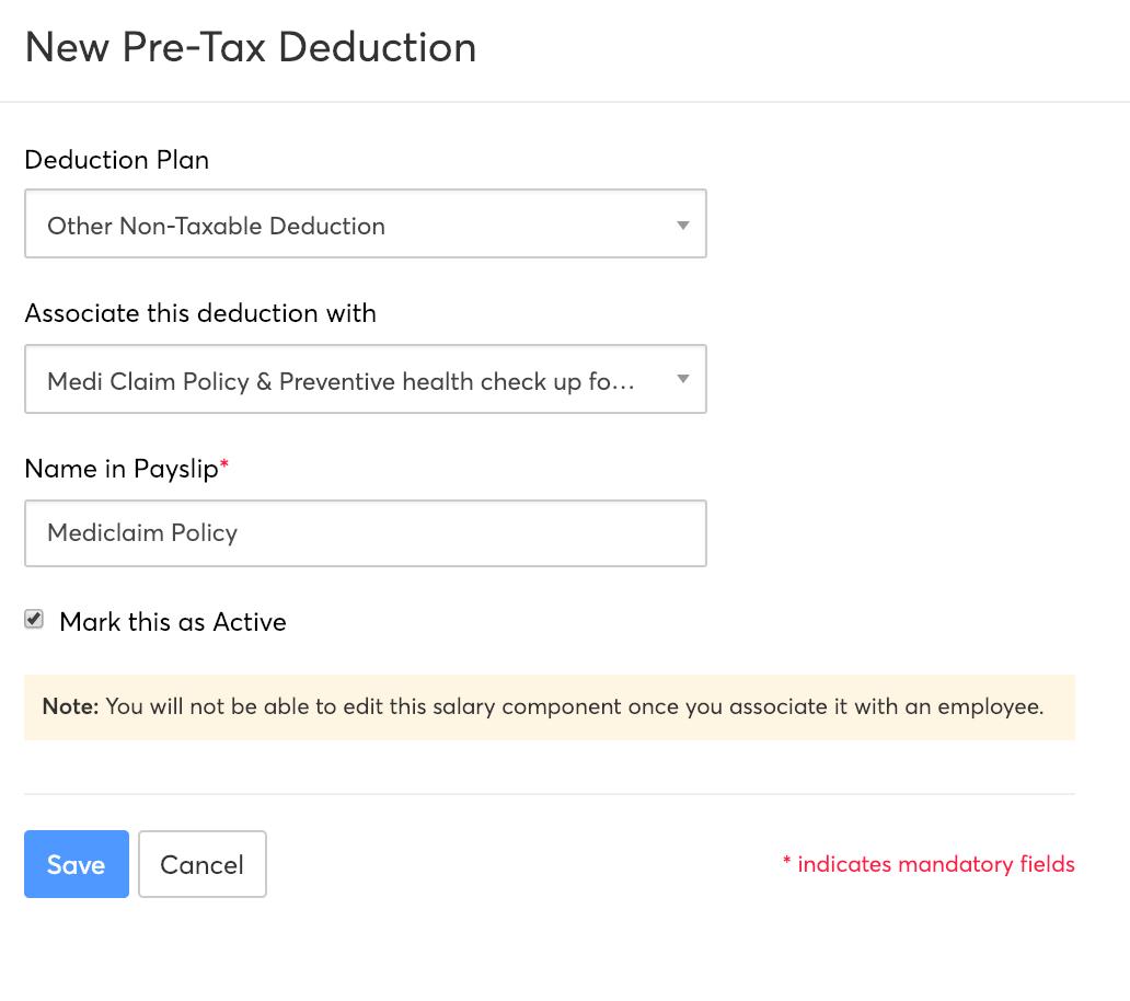 Pre-tax deduction