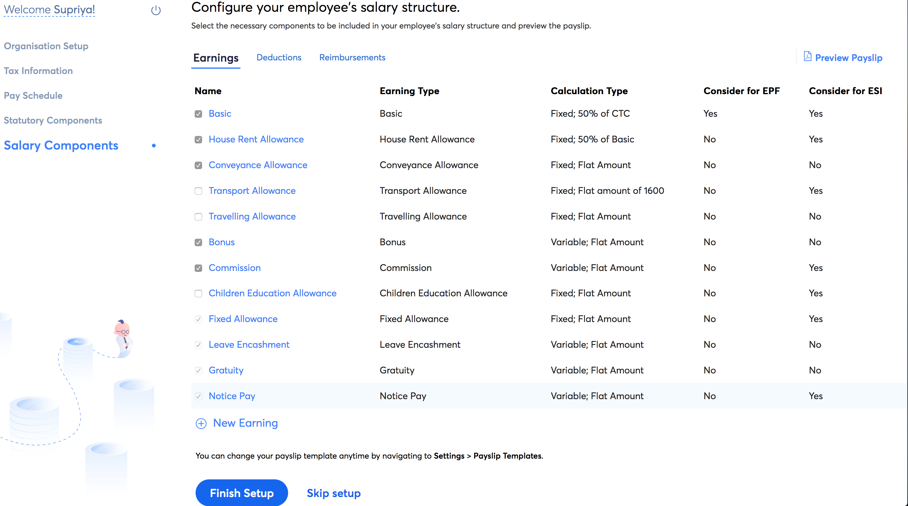 Salary Components