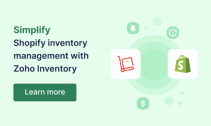 Shopify | Online Inventory Management Software - Zoho Inventory
