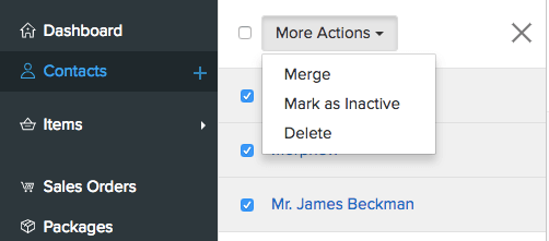 More Actions - Merge Contacts 1