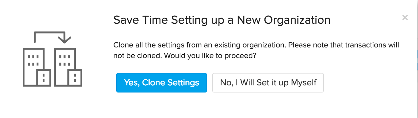 Create new org step 3
