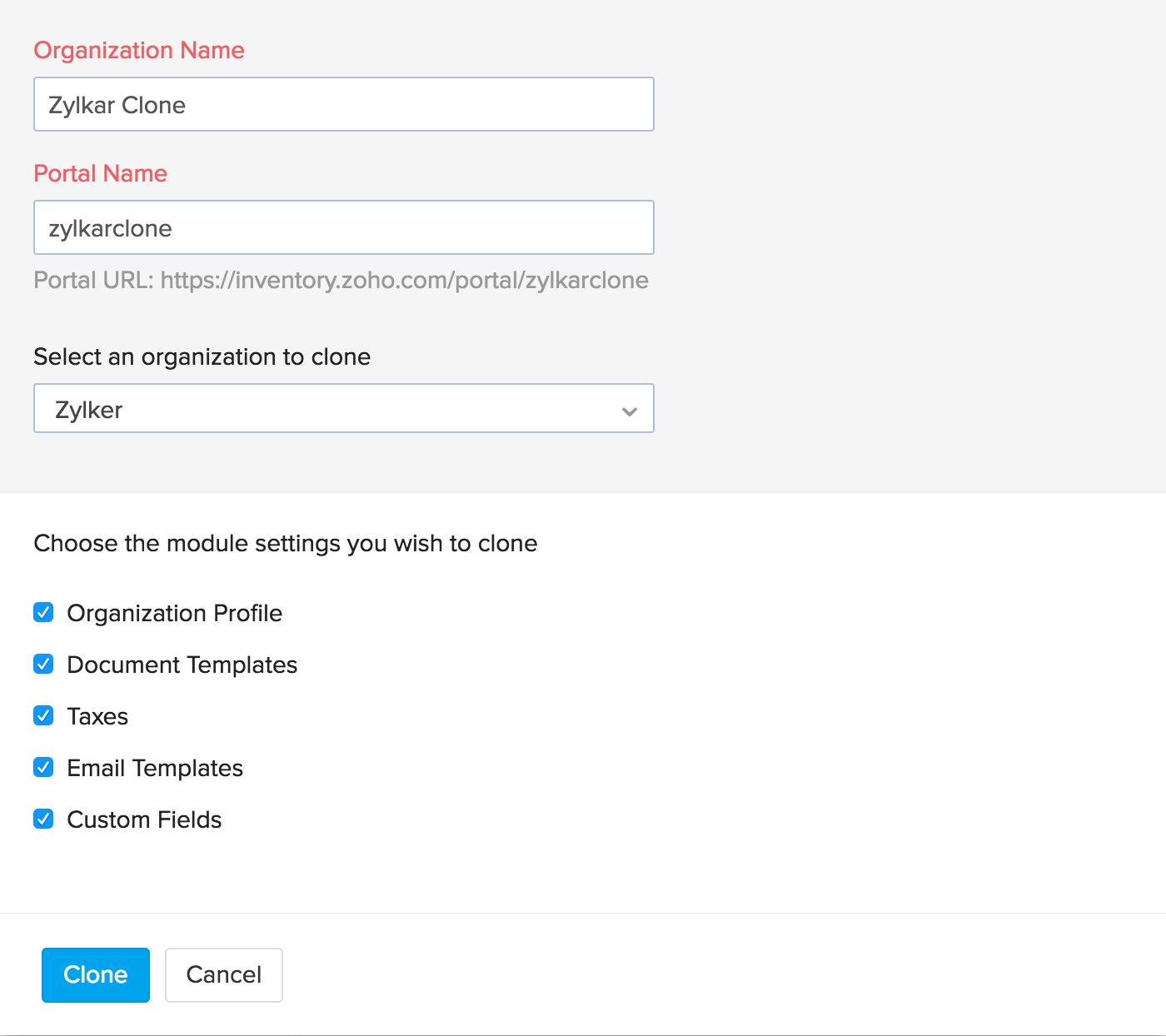 Create new org step 4