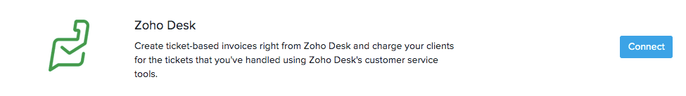 Connect Zoho Desk