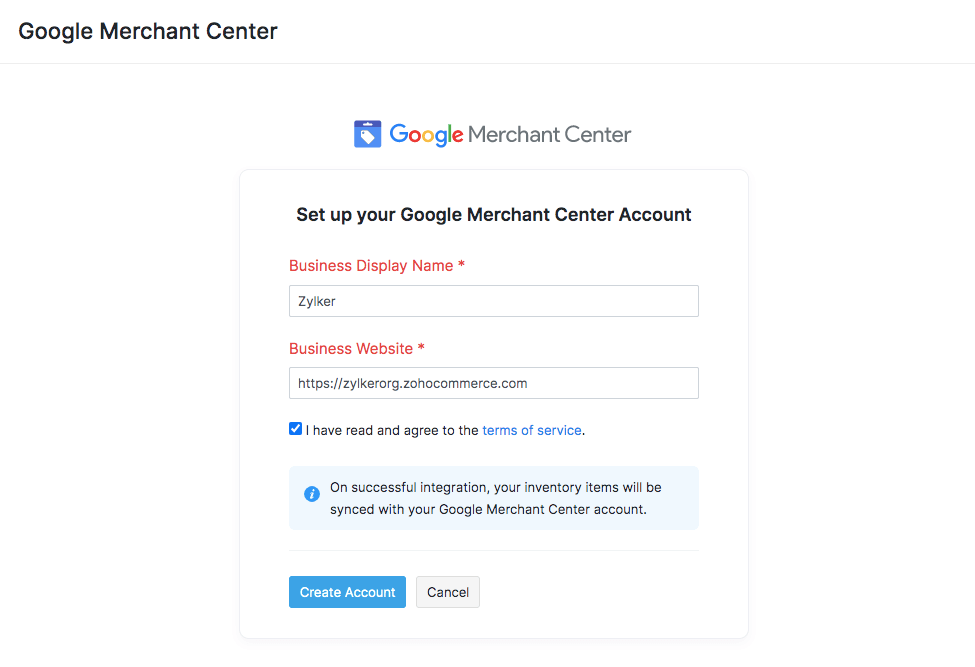 Create GMC Account