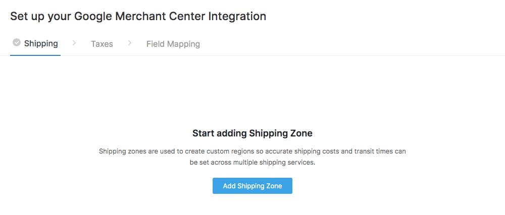 Add Shipping Zones
