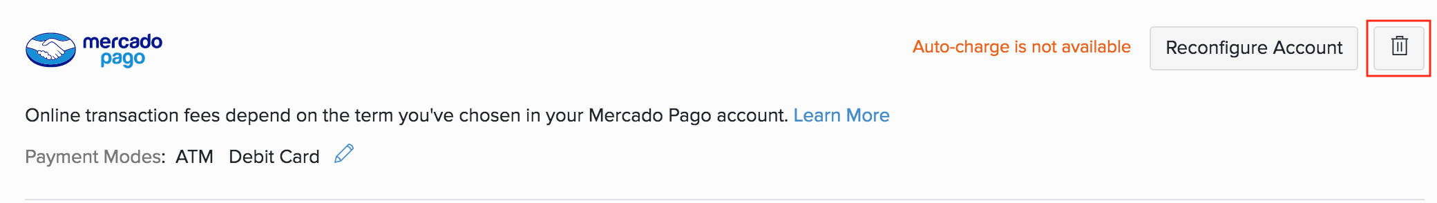 Mercado Pago Option