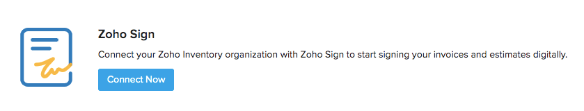 Zoho Sign connect