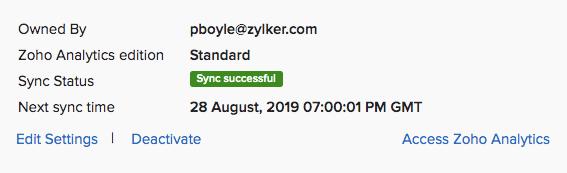 Edit Sync Settings