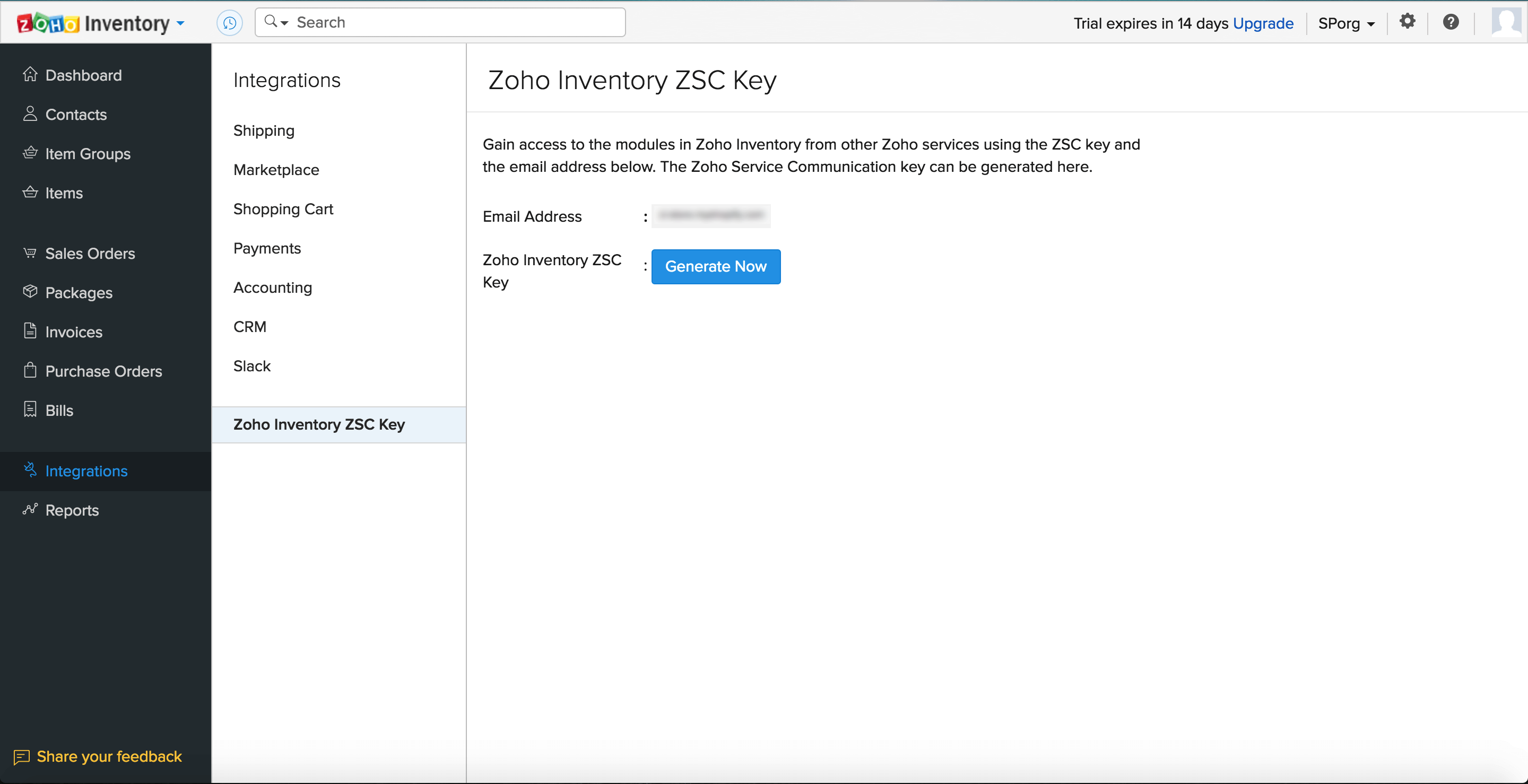 Generate ZSC key