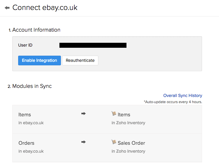 Zoho Inventory Integrations With Ebay Uk Edition