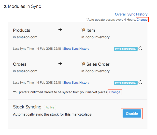 Fulfilled order sync option in Amazon