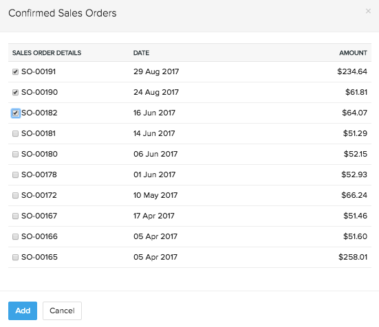 Single Invoice for Multiple Sales Orders:: Knowledge Base