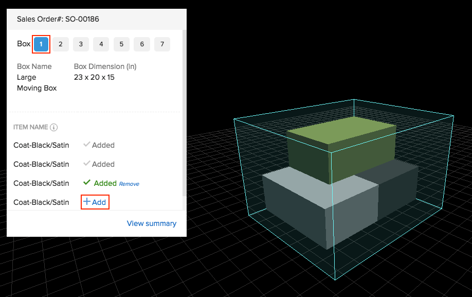 Package Geometry - add items to box