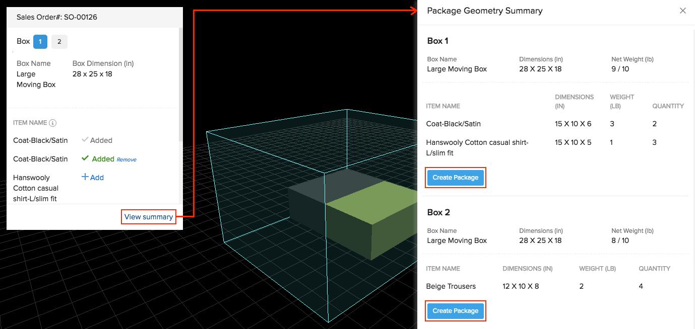 Package Geometry - package geometry summary