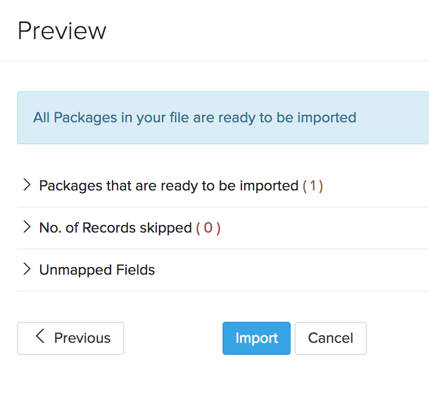 Preview import packages