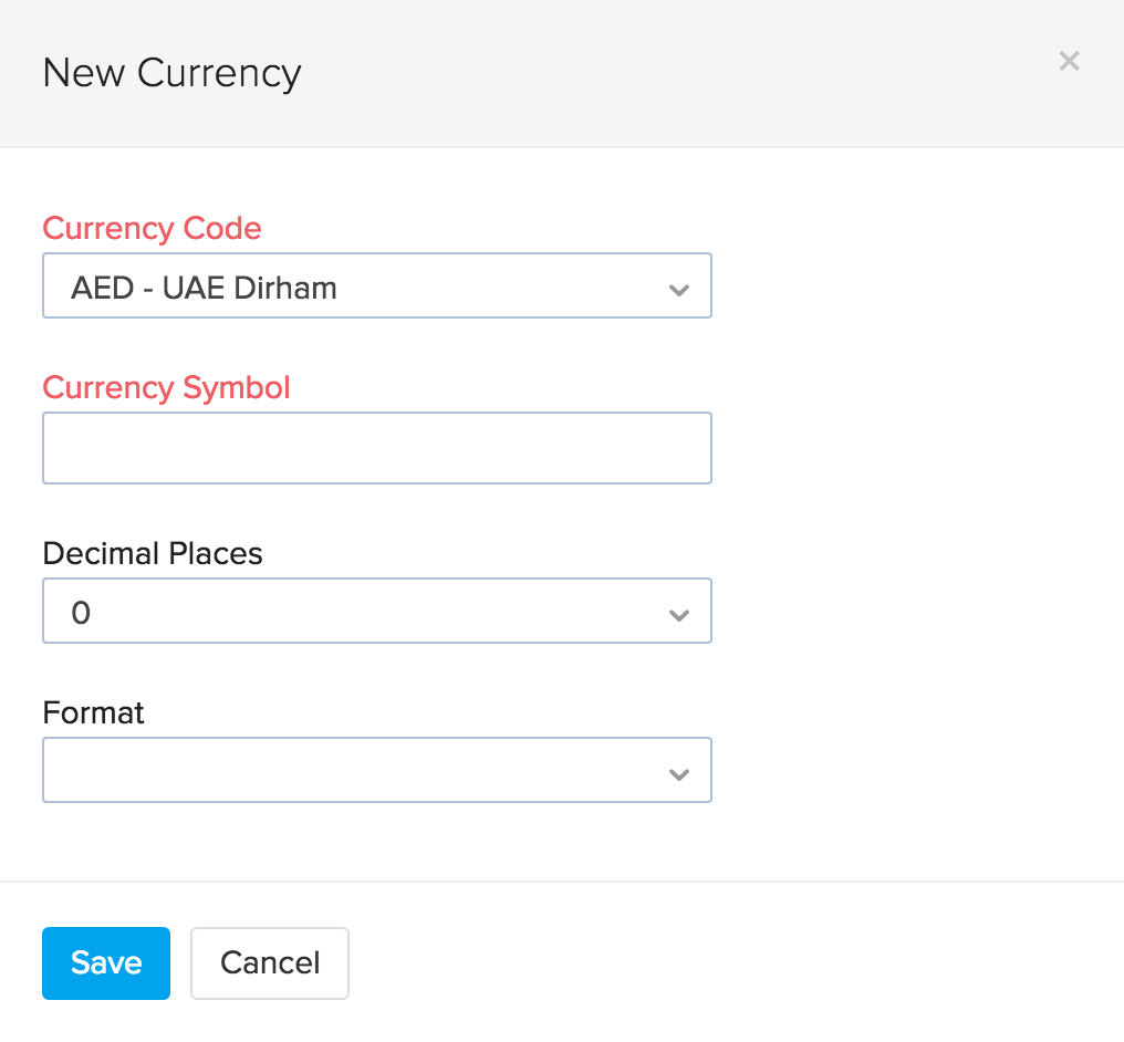 image of new currency pop up